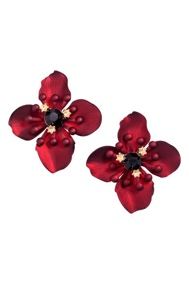 Metal earrings - Red - Ladies | H&M