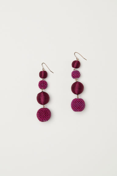 Long earrings - Plum - Ladies | H&M IE