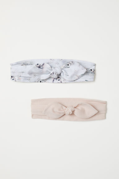 2-pack hairbands with a bow - Light beige - Kids | H&M CN