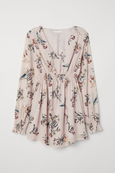 MAMA Patterned blouse - Light pink/Floral - Ladies | H&M CN