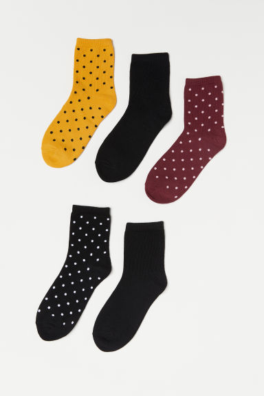 5-pack socks - Yellow/Spotted -  | H&M