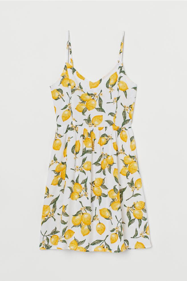 42b860b1974b ... Kort kjole - Hvid Citroner -