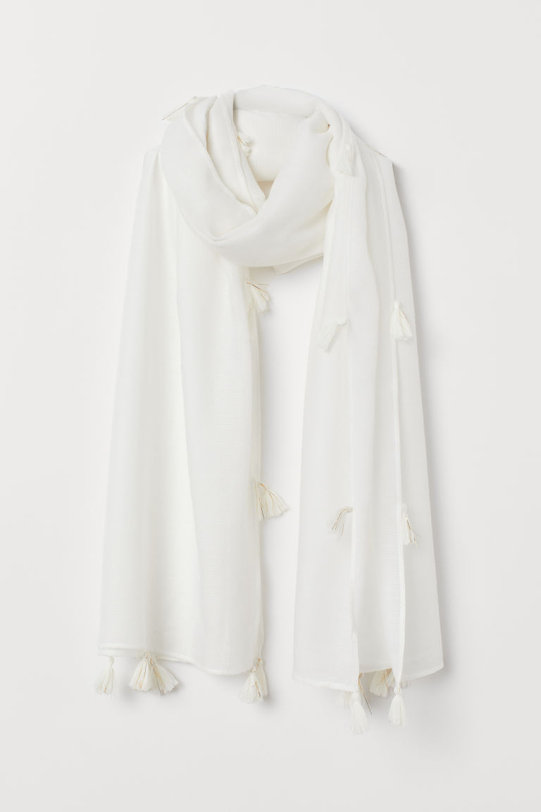 Scarf - White - Ladies | H&M US