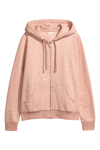 Hooded jacket - Light pink marl - Ladies | H&M GB