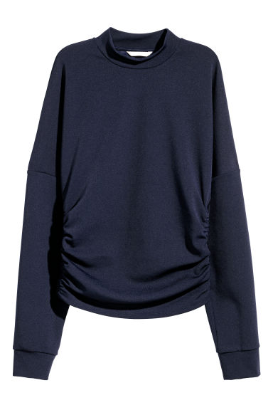 Drawstring top - Dark blue - Ladies | H&M