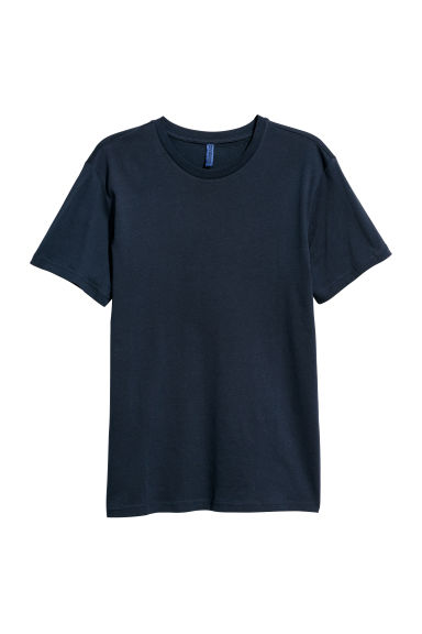 Round-necked T-shirt - Dark blue - Men | H&M