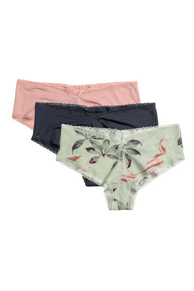 3-pack hipster briefs - Light green/Patterned - Ladies | H&M
