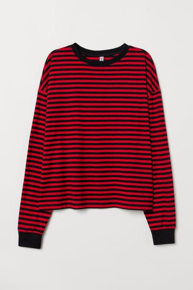super quality fashion 100% genuine Striped jersey top
