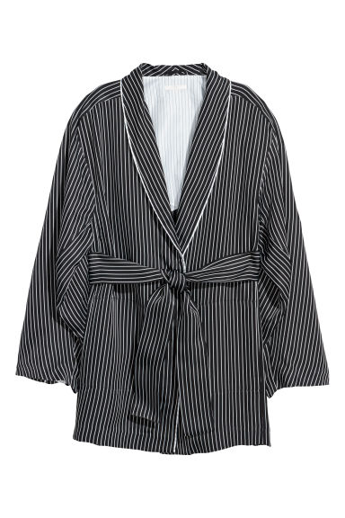 Striped jacket - Black/White striped - Ladies | H&M