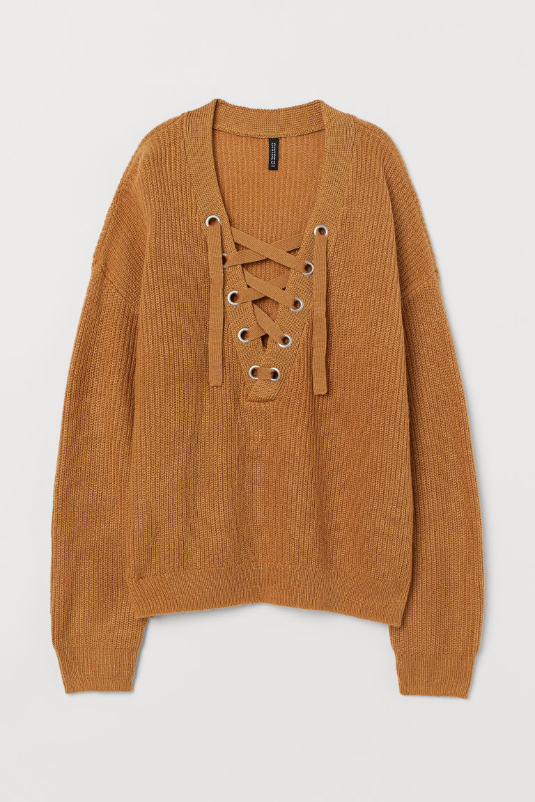H&M+ Sweater With Lacing by H&M