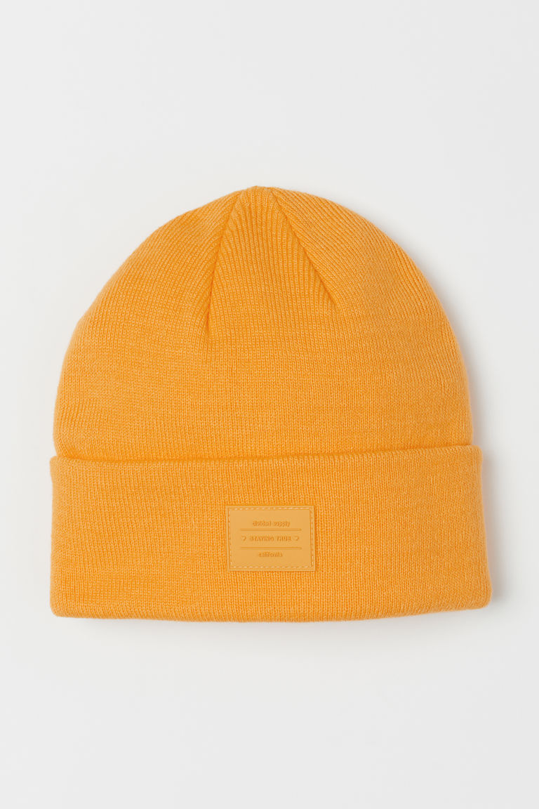 Fine-knit hat - Yellow -  | H&M