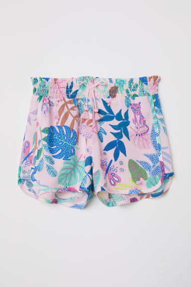 Short viscose shorts - Light pink -  | H&M CN