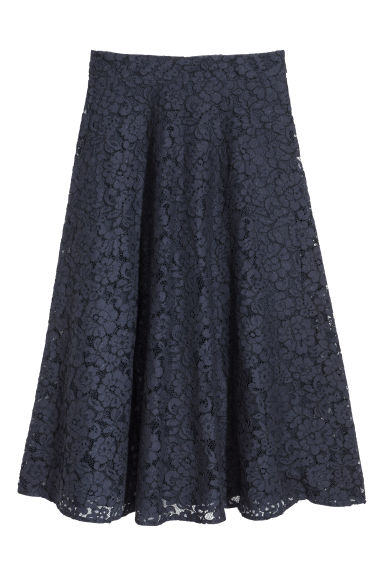 Calf-length lace skirt - Dark blue -  | H&M IE