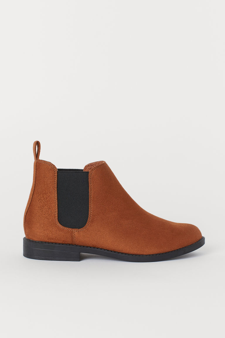 Pile-lined Chelsea boots - Light brown -  | H&M