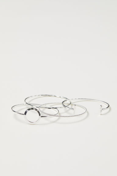 4-pack bangles - Silver-coloured - Ladies | H&M CN