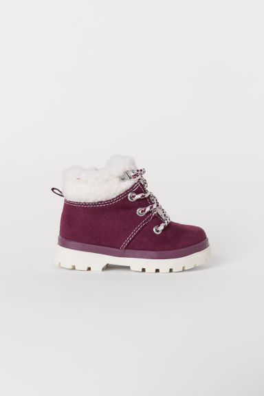 Pile-lined boots - Burgundy - Kids | H&M CN
