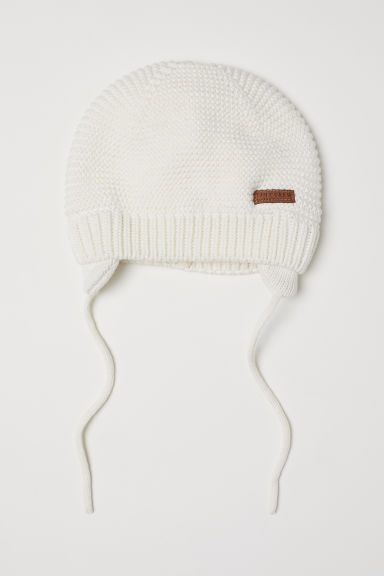 Knitted hat - Natural white - Kids | H&M
