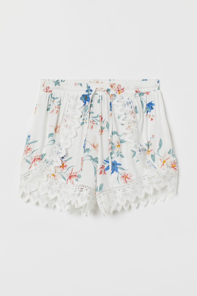 Short met kant - Wit/dessin -  | H&M BE