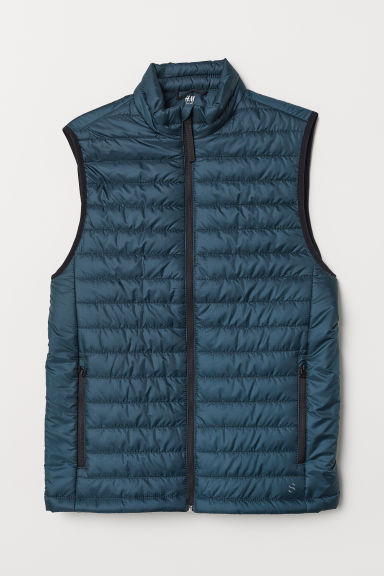 Gewatteerde outdoorbodywarmer - Petrol - HEREN | H&M BE