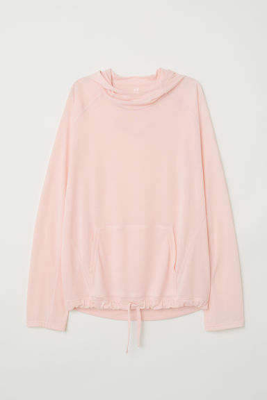 Hooded sports top - Apricot - Ladies | H&M