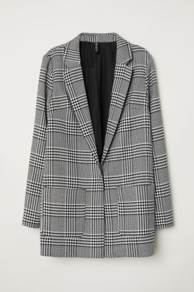 Pattern-weave jacket - Black/White patterned -  | H&M CN