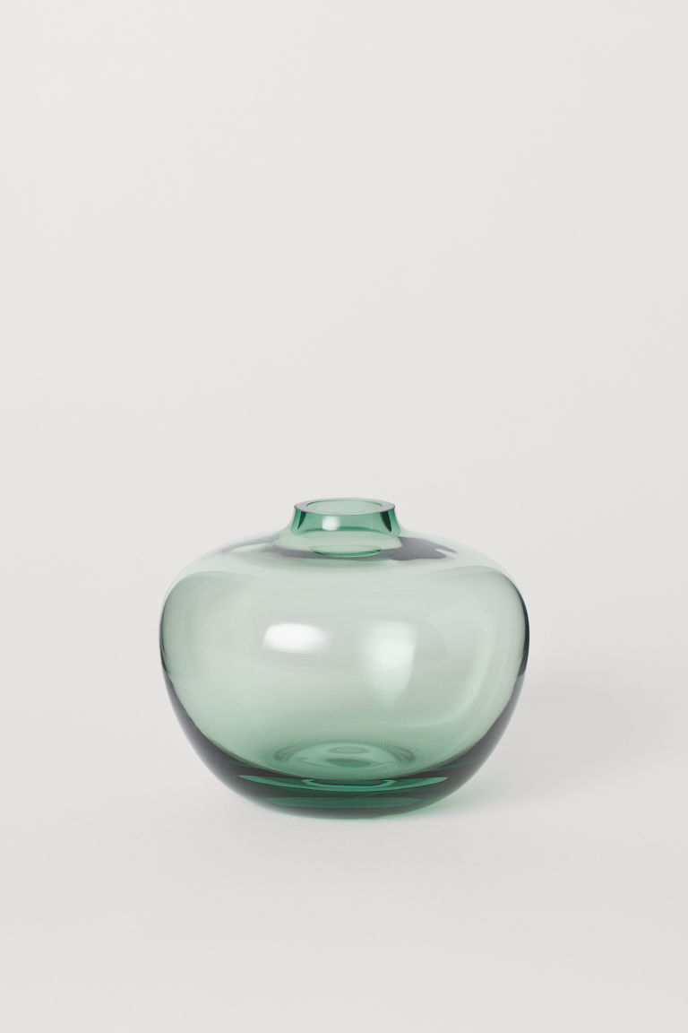 Small Glass Vase - Dark green - Home All | H&M US