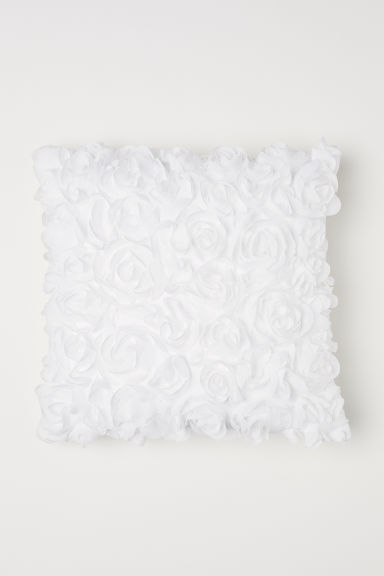 Chiffon flower cushion cover - White - Home All | H&M GB