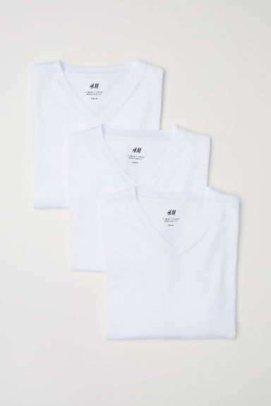 3-pack playeras Regular fit - Blanco - Men | H&M MX