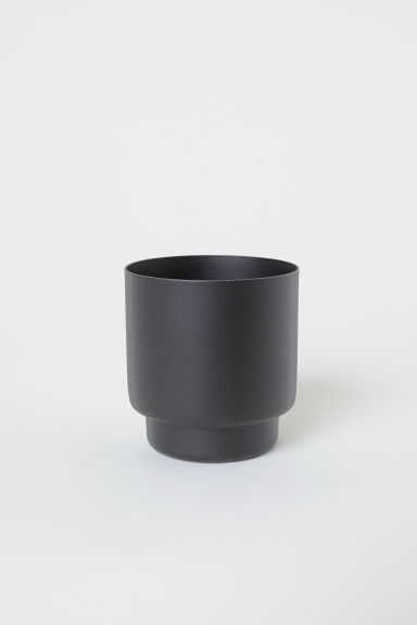 Metal mini plant pot - Black - Home All | H&M CN