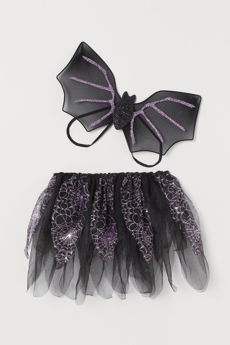 Fancy dress set - Raven black/Bat -  | H&M