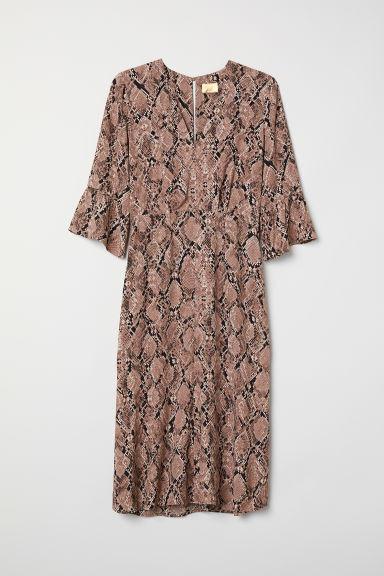 Patterned dress - Mole/Snakeskin-patterned - Ladies | H&M