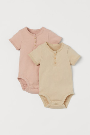 2-pack Ribbed Bodysuits
