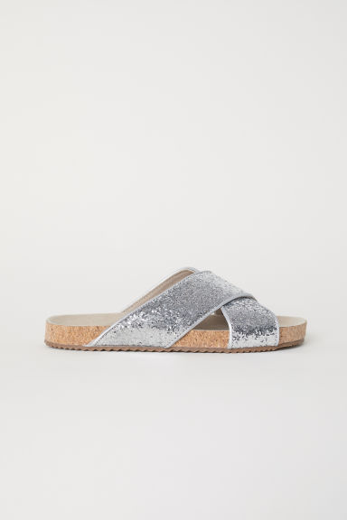 Glittery sandals - Silver-coloured/Sequins - Kids | H&M