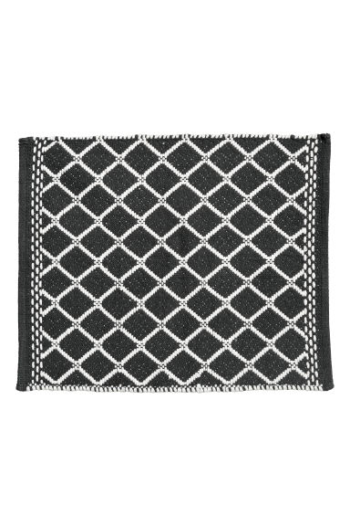 Jacquard-weave bath mat - Anthracite grey/White -  | H&M CN
