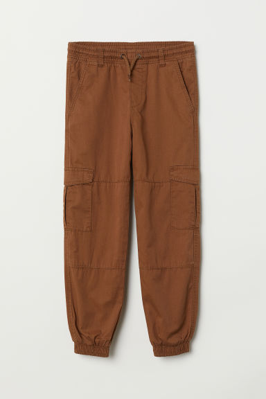 Jersey-lined cargo trousers - Camel - Kids | H&M CN