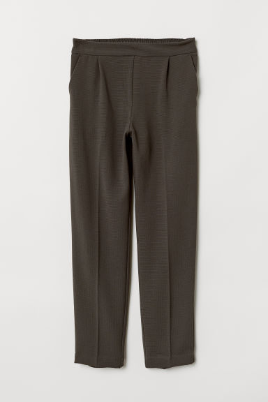 Pull-on trousers - Dark green-grey - Ladies | H&M