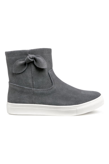 Suede hi-tops - Dark grey - Kids | H&M