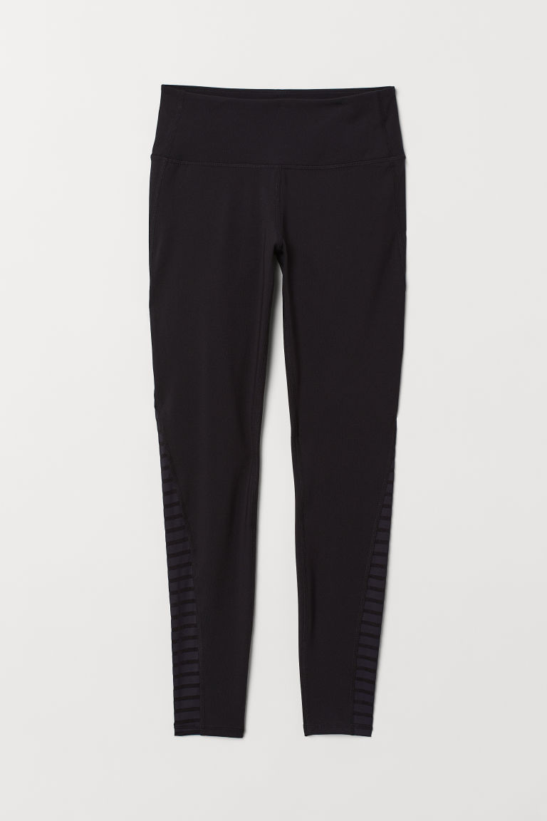 Yoga tights Shaping Waist - Black - Ladies | H&M