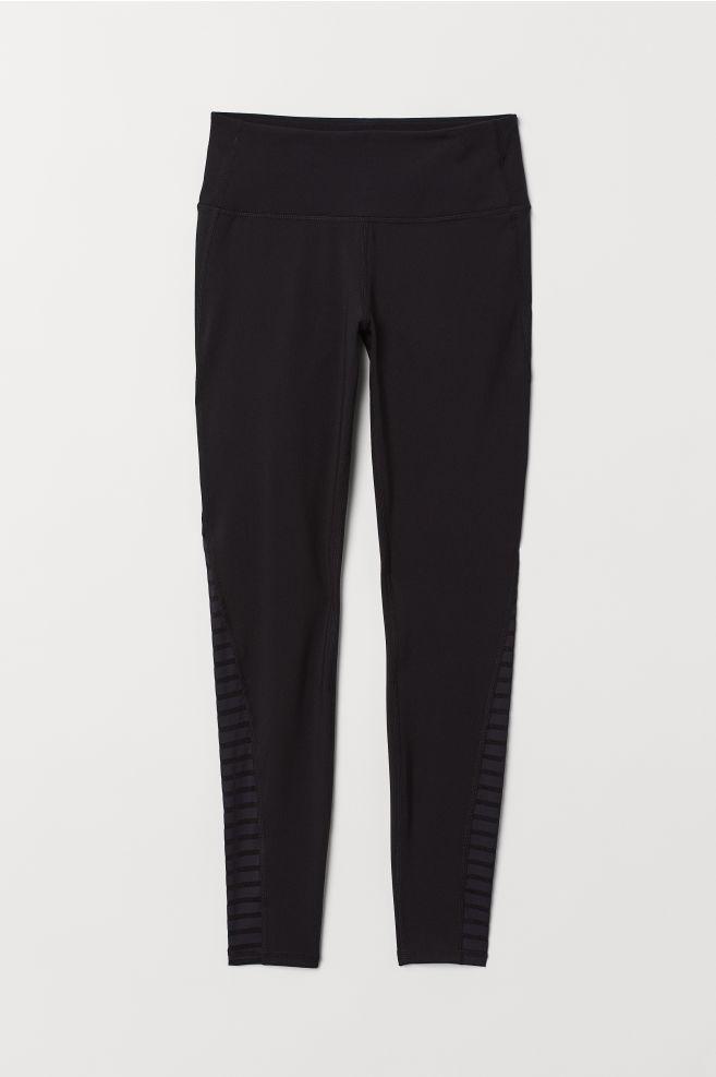 78e5a03236 Yoga Tights Shaping waist - Black - Ladies | H&M ...