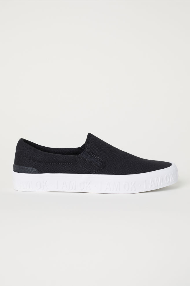 d92247d0842 Slip-on Canvas Shoes - Black - Men