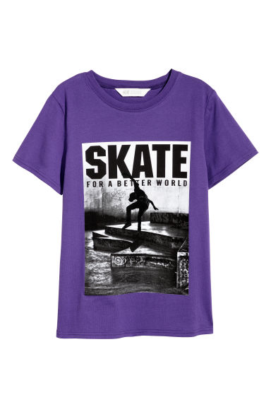 T-shirt con stampa - Viola/skater -  | H&M IT