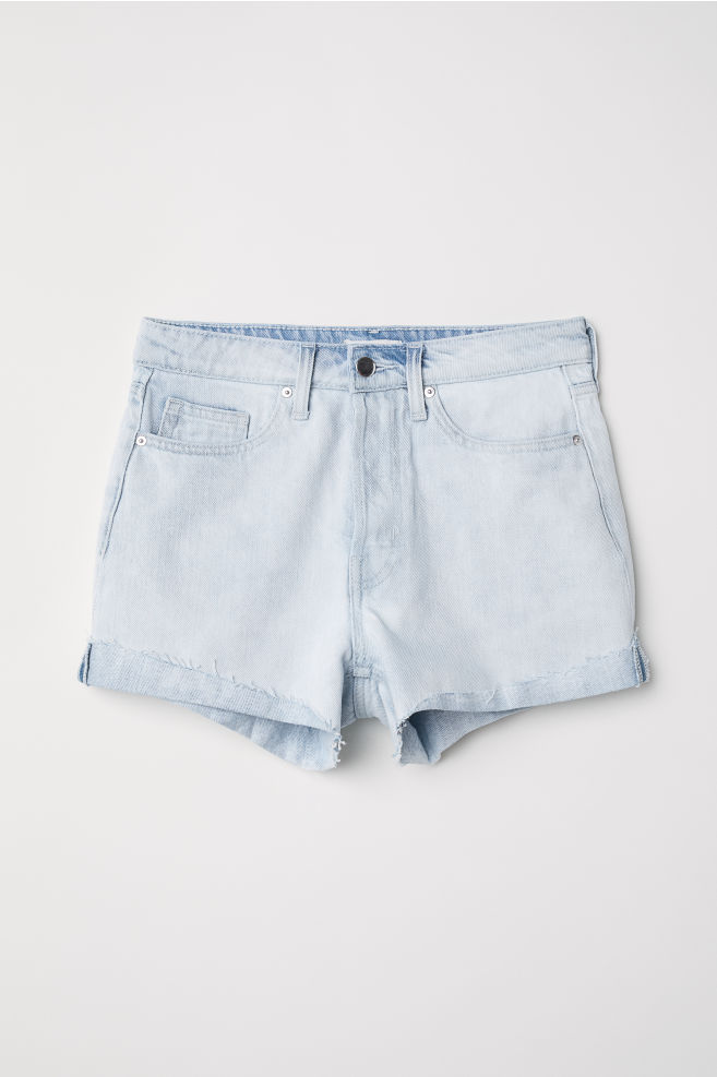 6ff25f4ef Denim Shorts - Light denim blue - Ladies | H&M ...