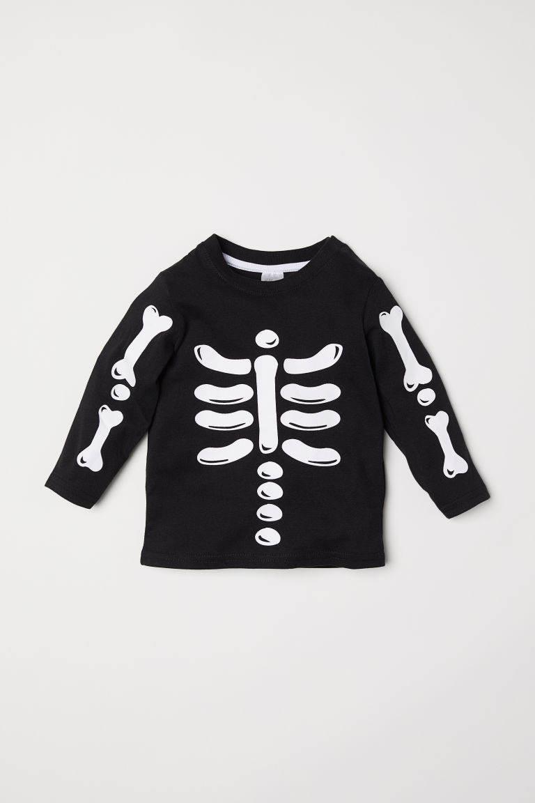 Top con stampa - Nero/scheletro - BAMBINO | H&M IT
