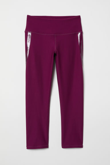 Driekwart sportlegging - Donkerroze - DAMES | H&M BE