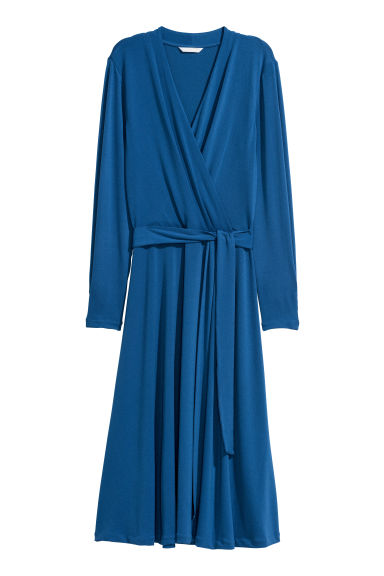 Jersey crêpe dress - Cornflower blue - Ladies | H&M GB