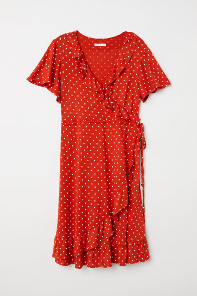 MAMA Wrap dress - Red/Spotted - Ladies | H&M CN