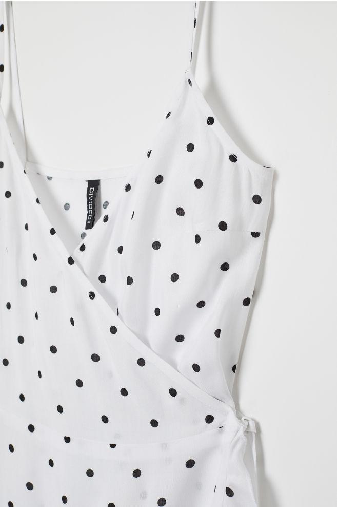 400f4e780eab ... Flounced wrap dress - White/Black spotted - Ladies | H&M 5