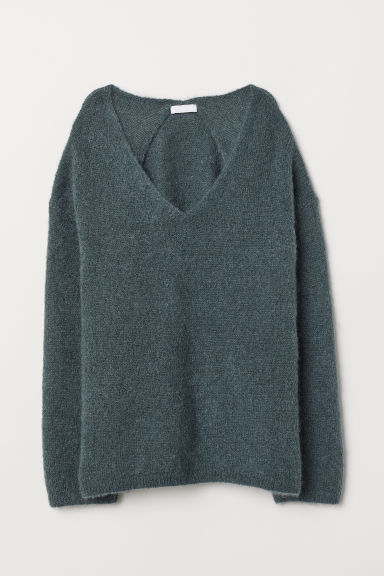 Pullover in misto mohair - Verde nebbia - DONNA | H&M IT