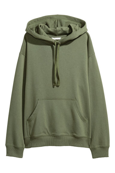 Hooded top - Khaki green -  | H&M