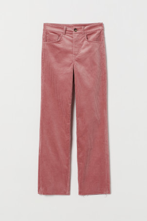 Ankle-length corduroy trousers
